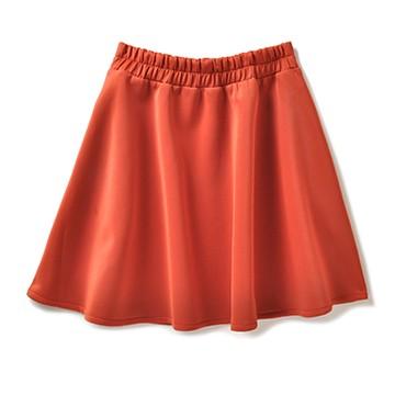 haco! haco.FACTORY ひらりと舞うツルふわスカート <オレンジ>の商品写真