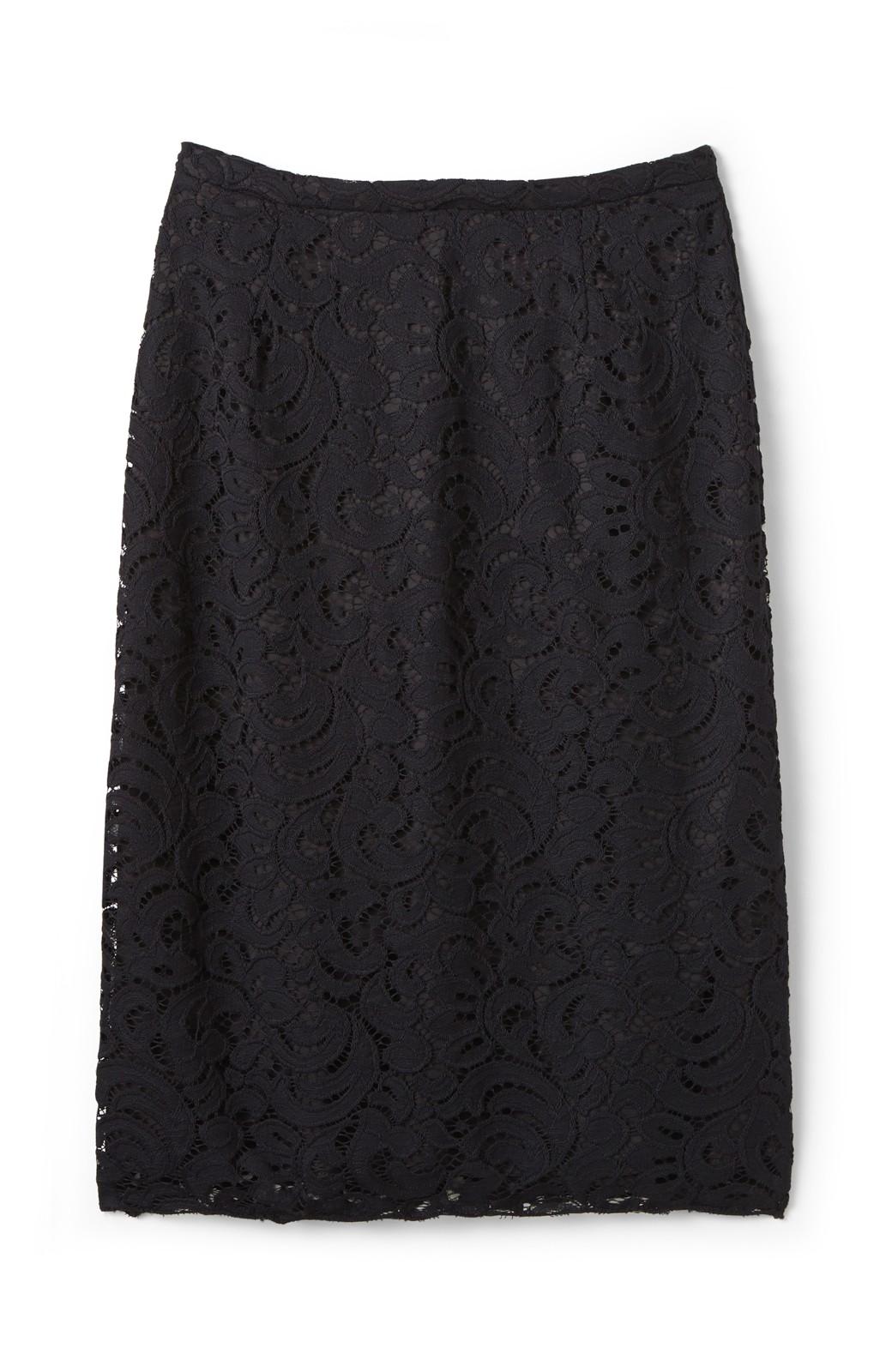 エムトロワ オトナレースのタイトスカート <ブラック>の商品写真2