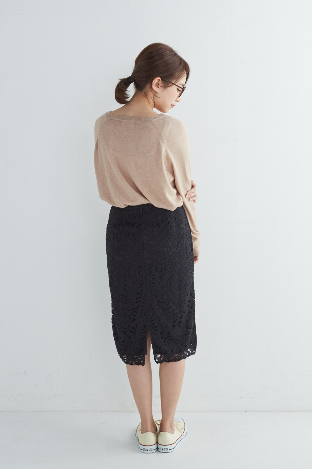 エムトロワ オトナレースのタイトスカート <ブラック>の商品写真14