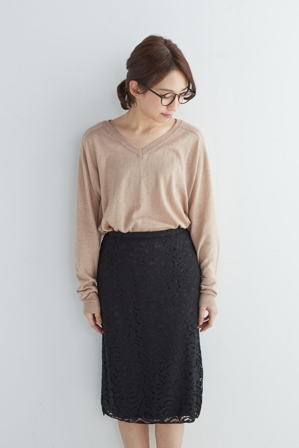 エムトロワ オトナレースのタイトスカート <ブラック>の商品写真1