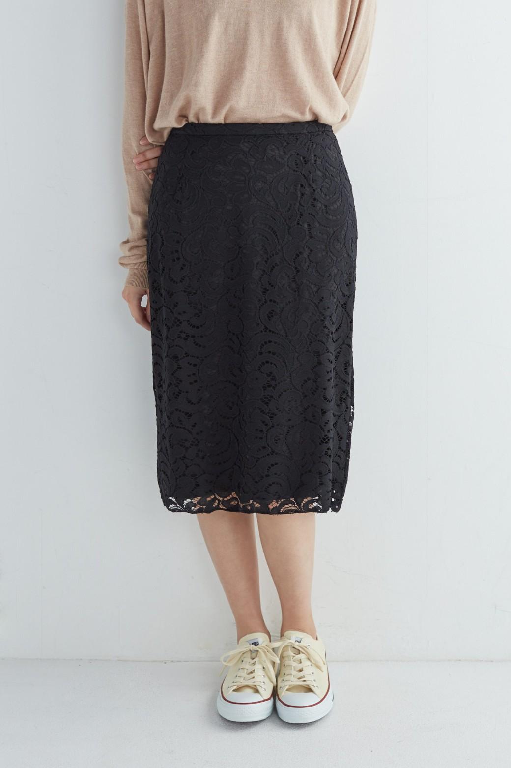 エムトロワ オトナレースのタイトスカート <ブラック>の商品写真15