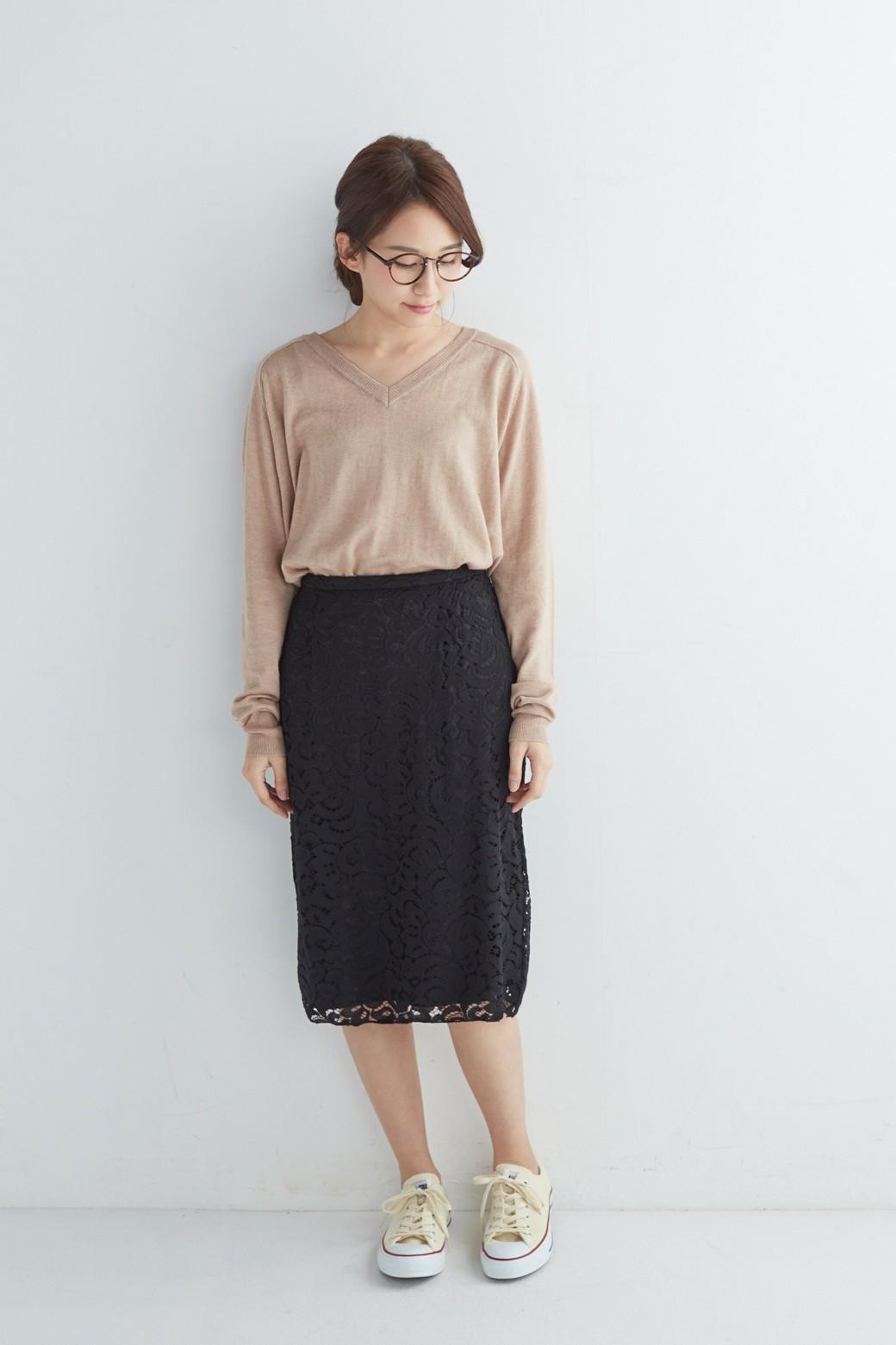 エムトロワ オトナレースのタイトスカート <ブラック>の商品写真4