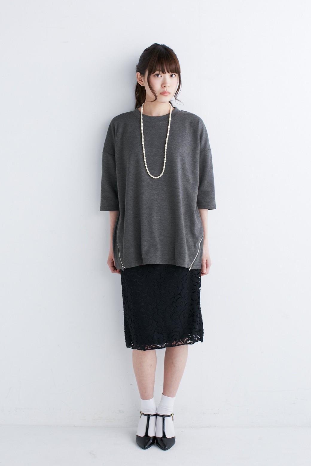 エムトロワ オトナレースのタイトスカート <ブラック>の商品写真6