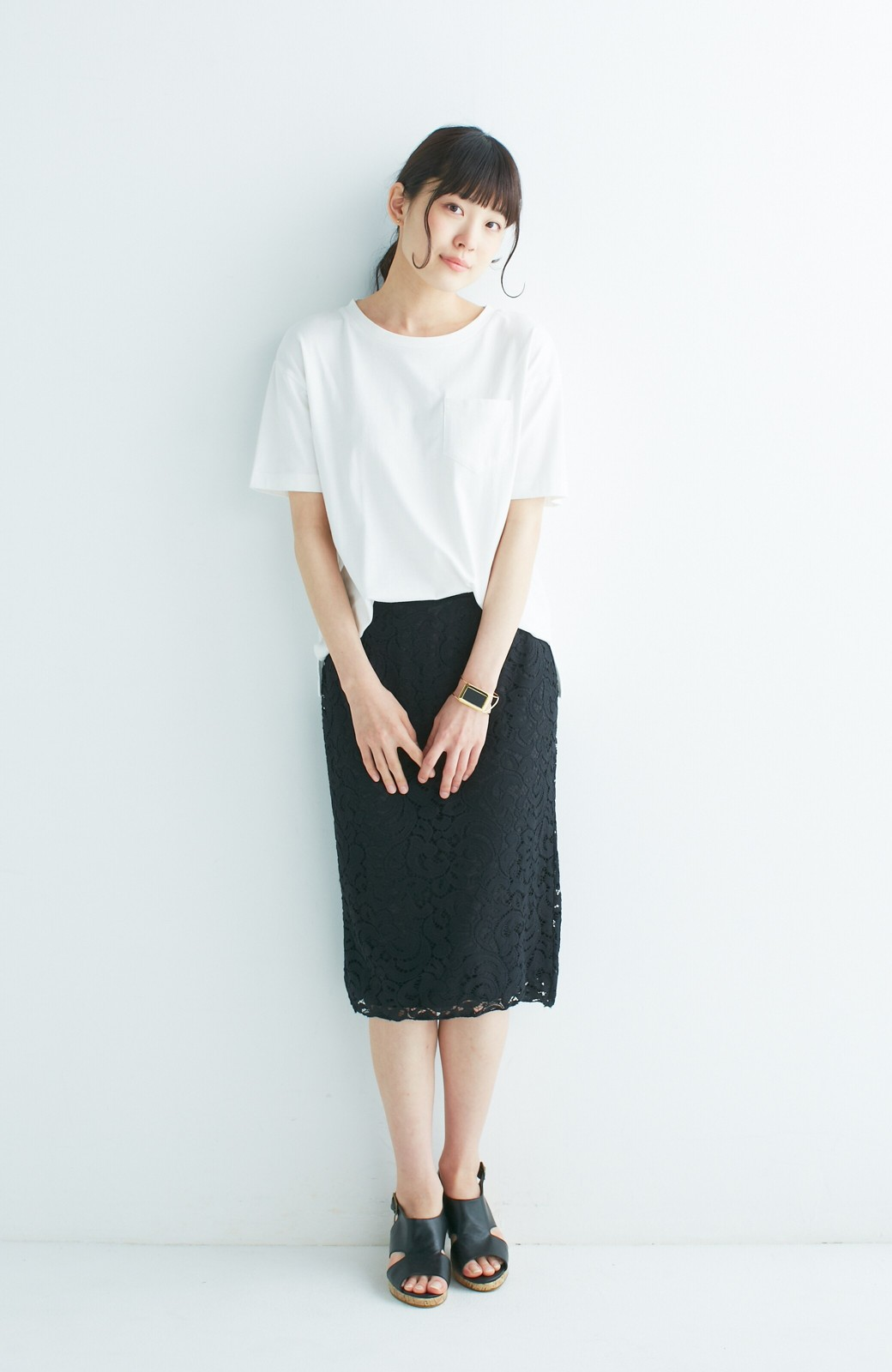 エムトロワ オトナレースのタイトスカート <ブラック>の商品写真10