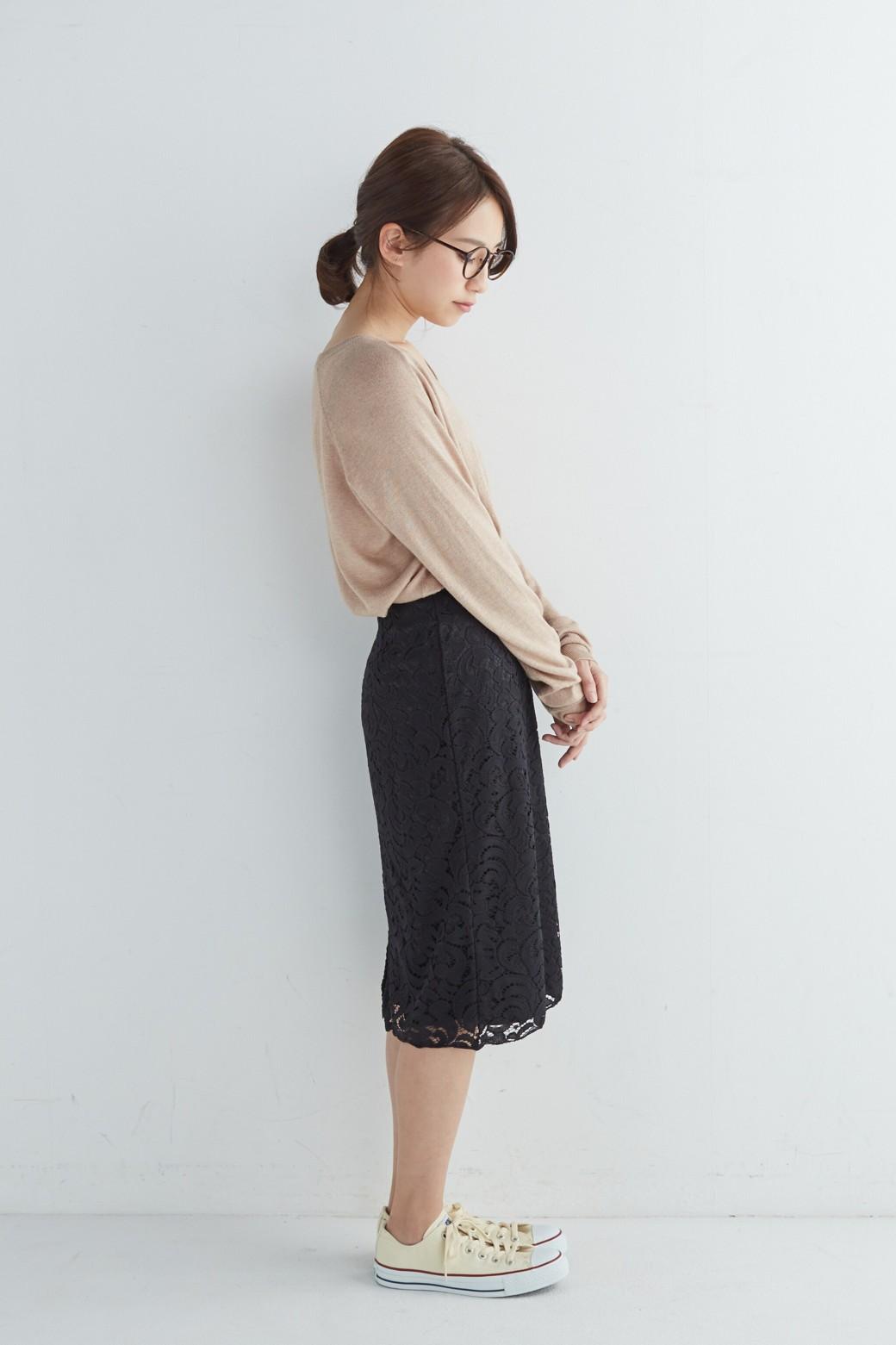 エムトロワ オトナレースのタイトスカート <ブラック>の商品写真13