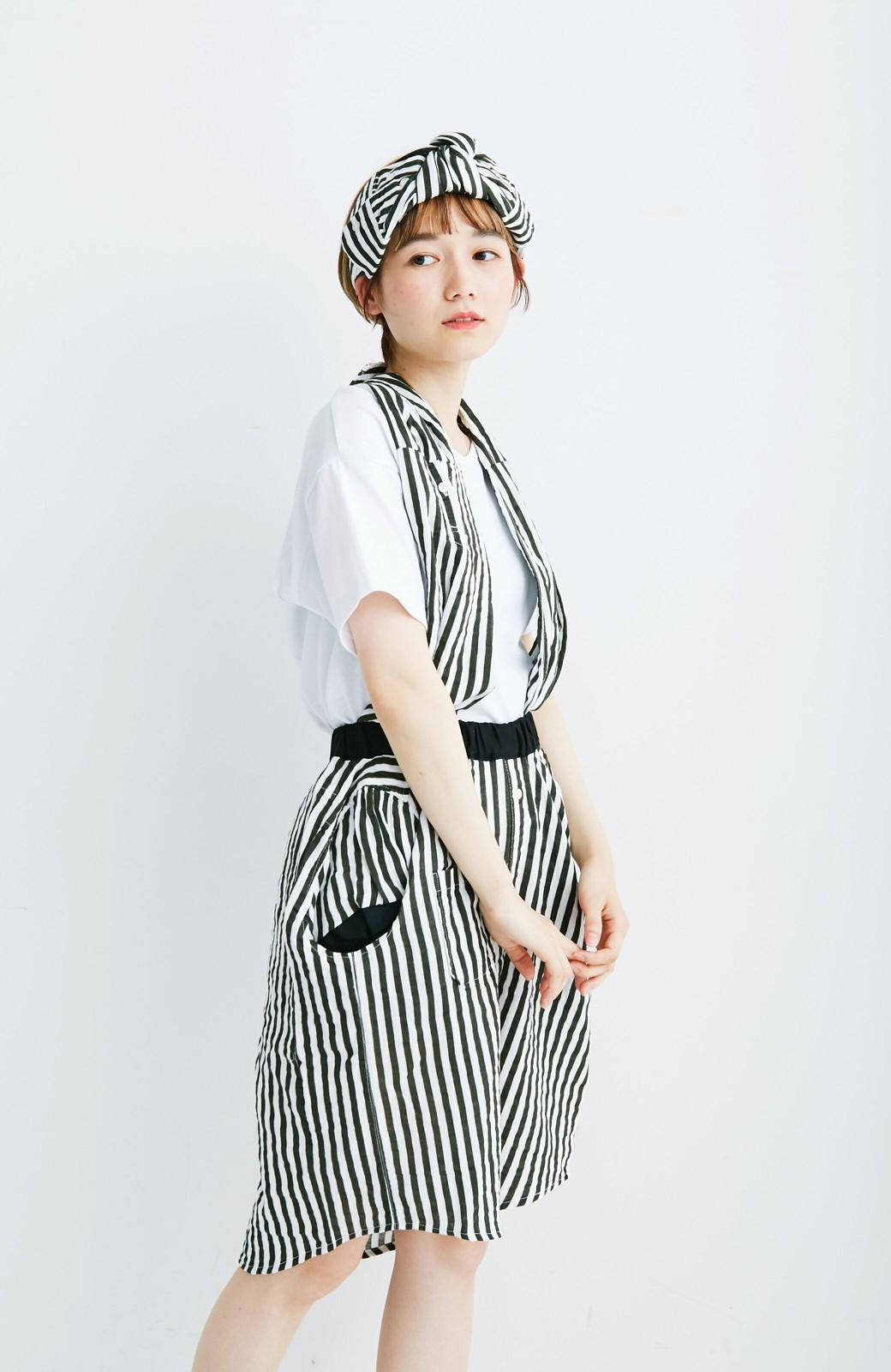 haco! co&tion RERE2枚のシャツでつくったスカートとターバンセット【アーティスト監修10点もの】 <ブラック×ホワイト>の商品写真4