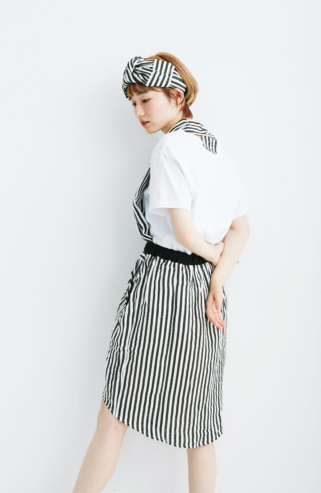 haco! co&tion RERE2枚のシャツでつくったスカートとターバンセット【アーティスト監修10点もの】 <ブラック×ホワイト>の商品写真5