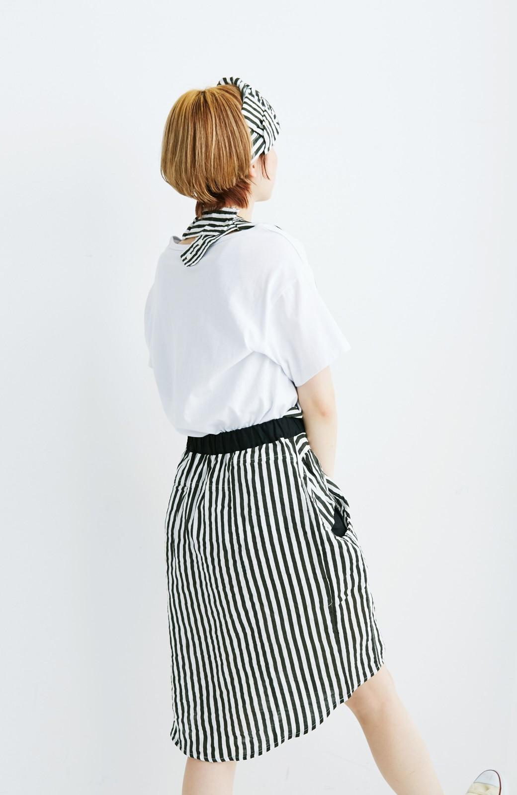 haco! co&tion RERE2枚のシャツでつくったスカートとターバンセット【アーティスト監修10点もの】 <ブラック×ホワイト>の商品写真6