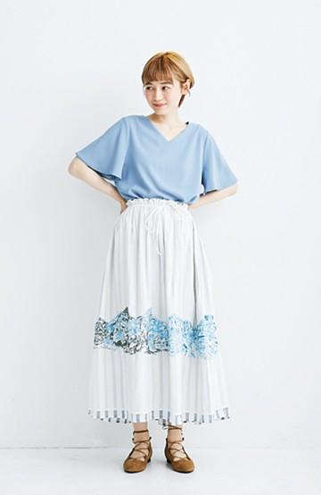 haco! co&tion 二宮佐和子Endress Everest Skirt【アーティスト作品1点もの】<ホワイト>の商品写真