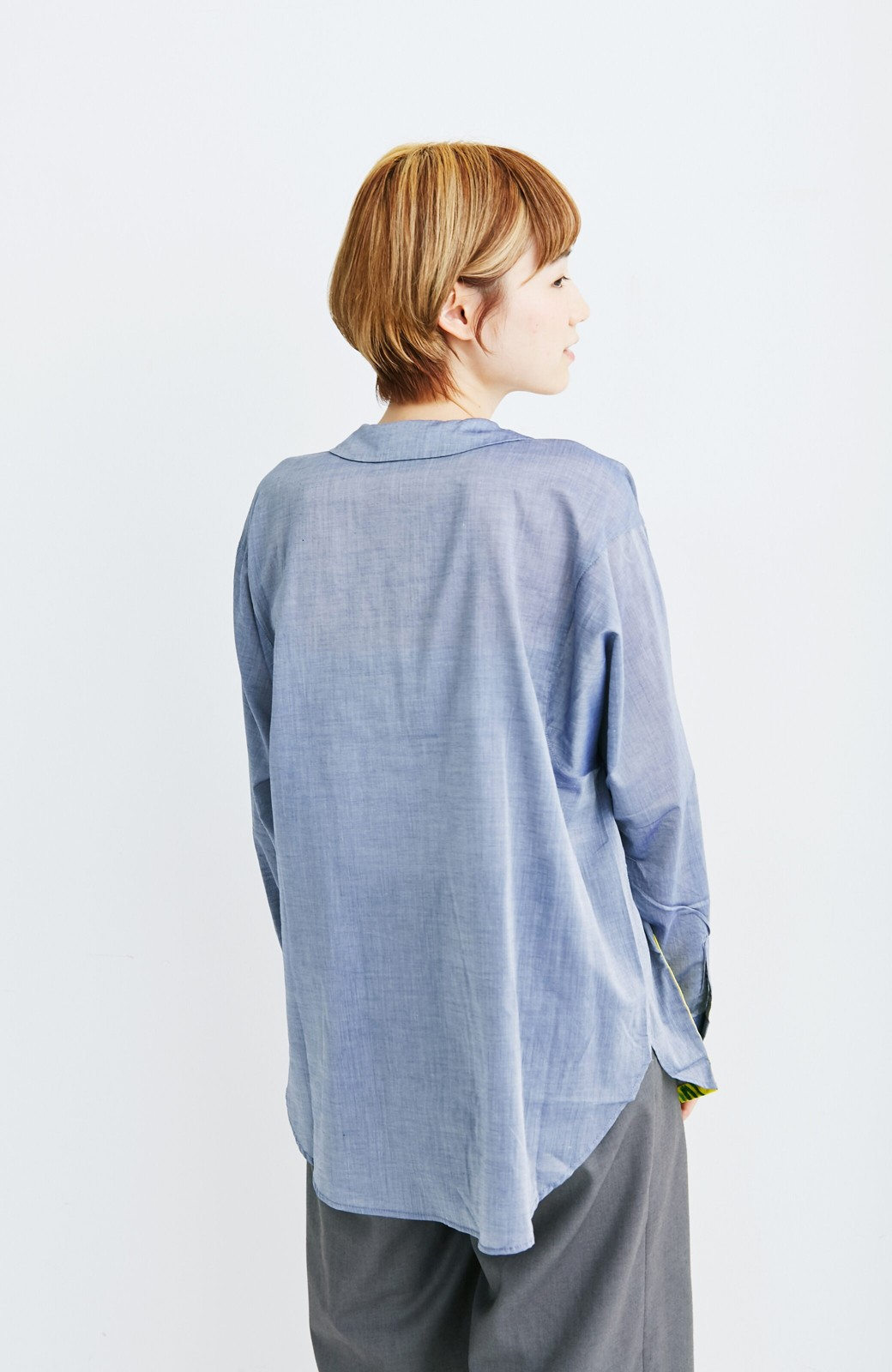 haco! co&tion 遠山敦丸えりシャツ【アーティスト監修10点もの】 <ブルー>の商品写真4