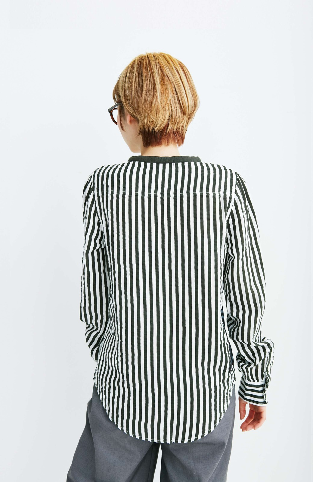 haco! co&tion 遠山敦ストライプシャツ【アーティスト監修10点もの】 <ブラック×ホワイト>の商品写真6