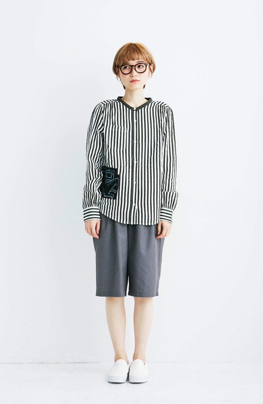 haco! co&tion 遠山敦ストライプシャツ【アーティスト監修10点もの】 <ブラック×ホワイト>の商品写真2