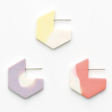 haco! てとひとて januka PAC Hexagon ペアピアス <パステル>の商品写真