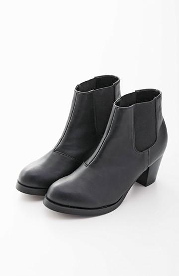nusy 歩きやすくて大人っぽい サイドゴアブーツ <ブラック>の商品写真