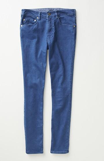 nusy のびのびサテン素材のスキニーデニムパンツ <ブルー>の商品写真