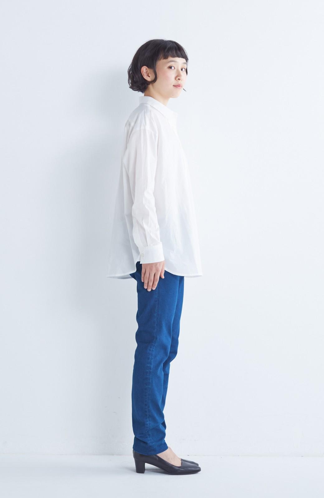 nusy のびのびサテン素材のスキニーデニムパンツ <ブルー>の商品写真7