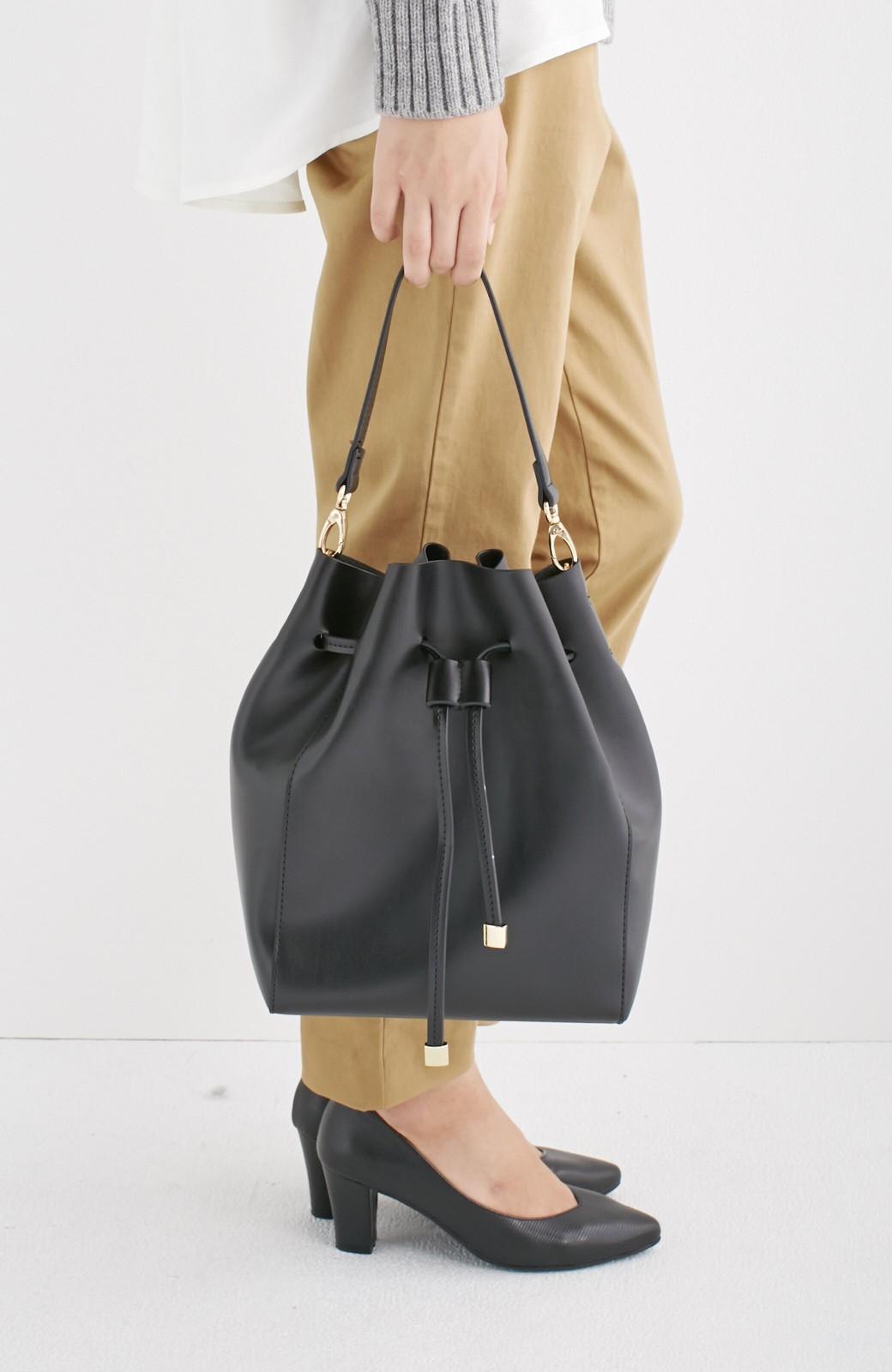 エムトロワ 大人な巾着バッグ <ブラック>の商品写真5