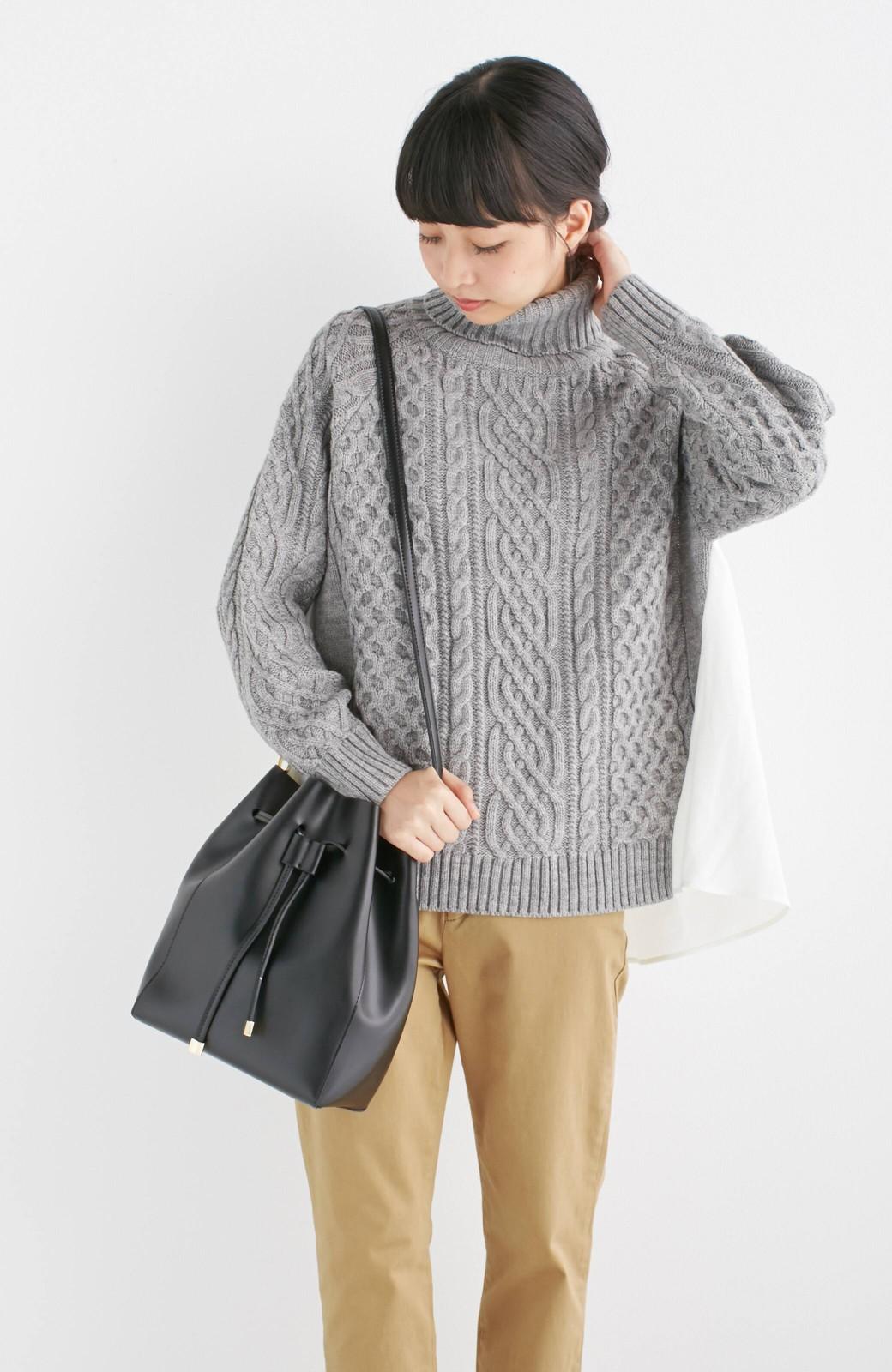 エムトロワ 大人な巾着バッグ <ブラック>の商品写真11