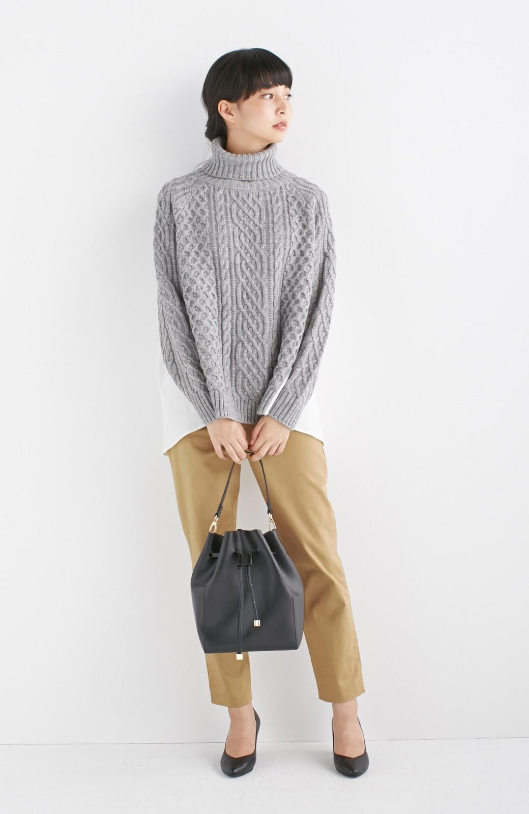 エムトロワ 大人な巾着バッグ <ブラック>の商品写真6