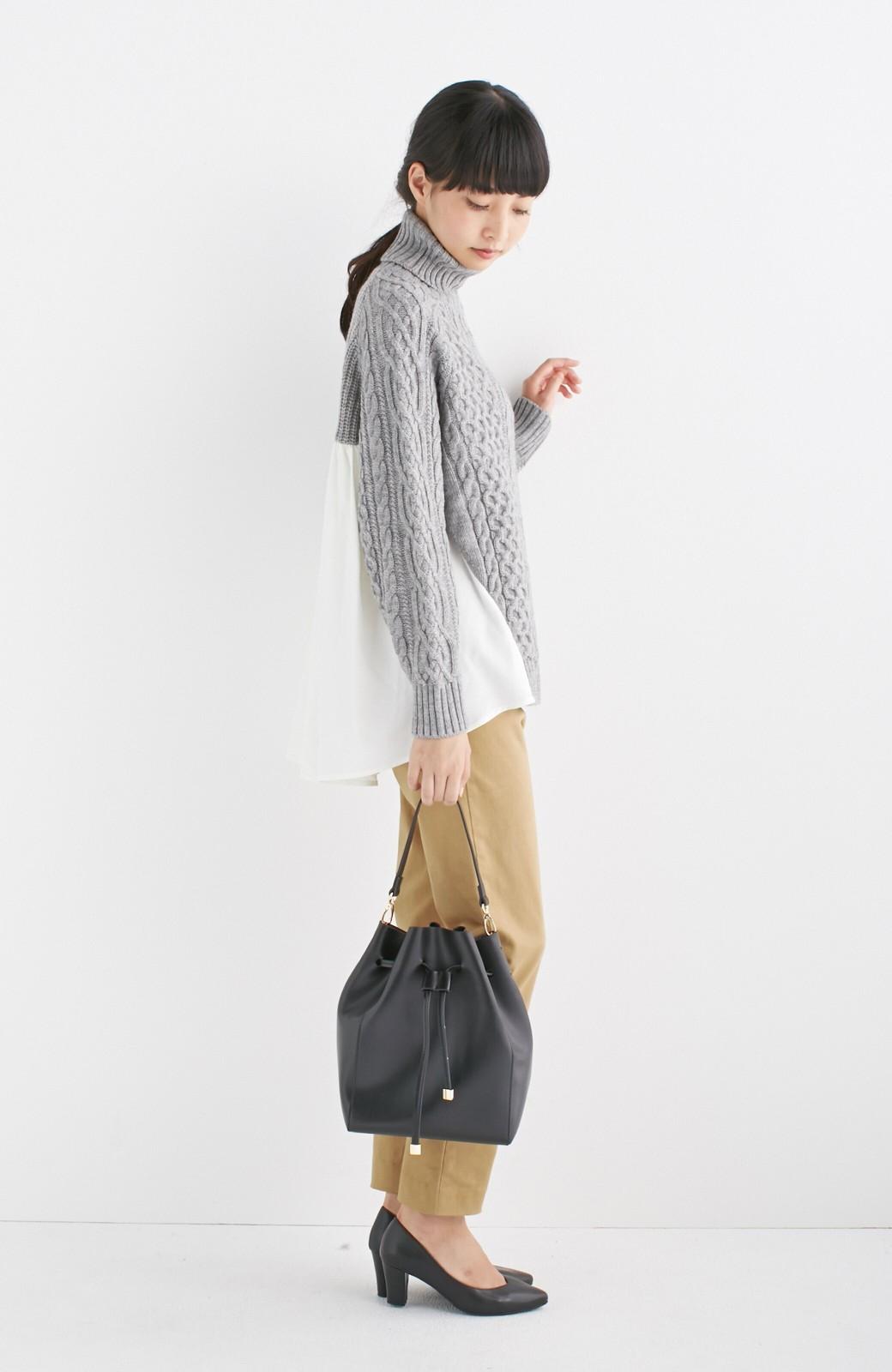 エムトロワ 大人な巾着バッグ <ブラック>の商品写真10