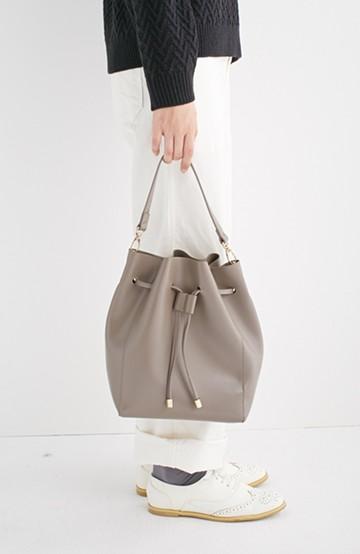 エムトロワ 大人な巾着バッグ <グレー>の商品写真