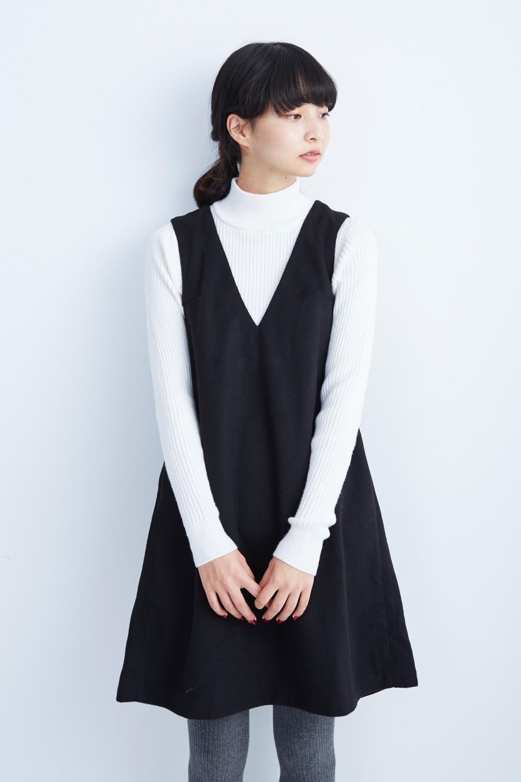 エムトロワ 大人レディーライクジャンパースカート <ブラック>の商品写真1