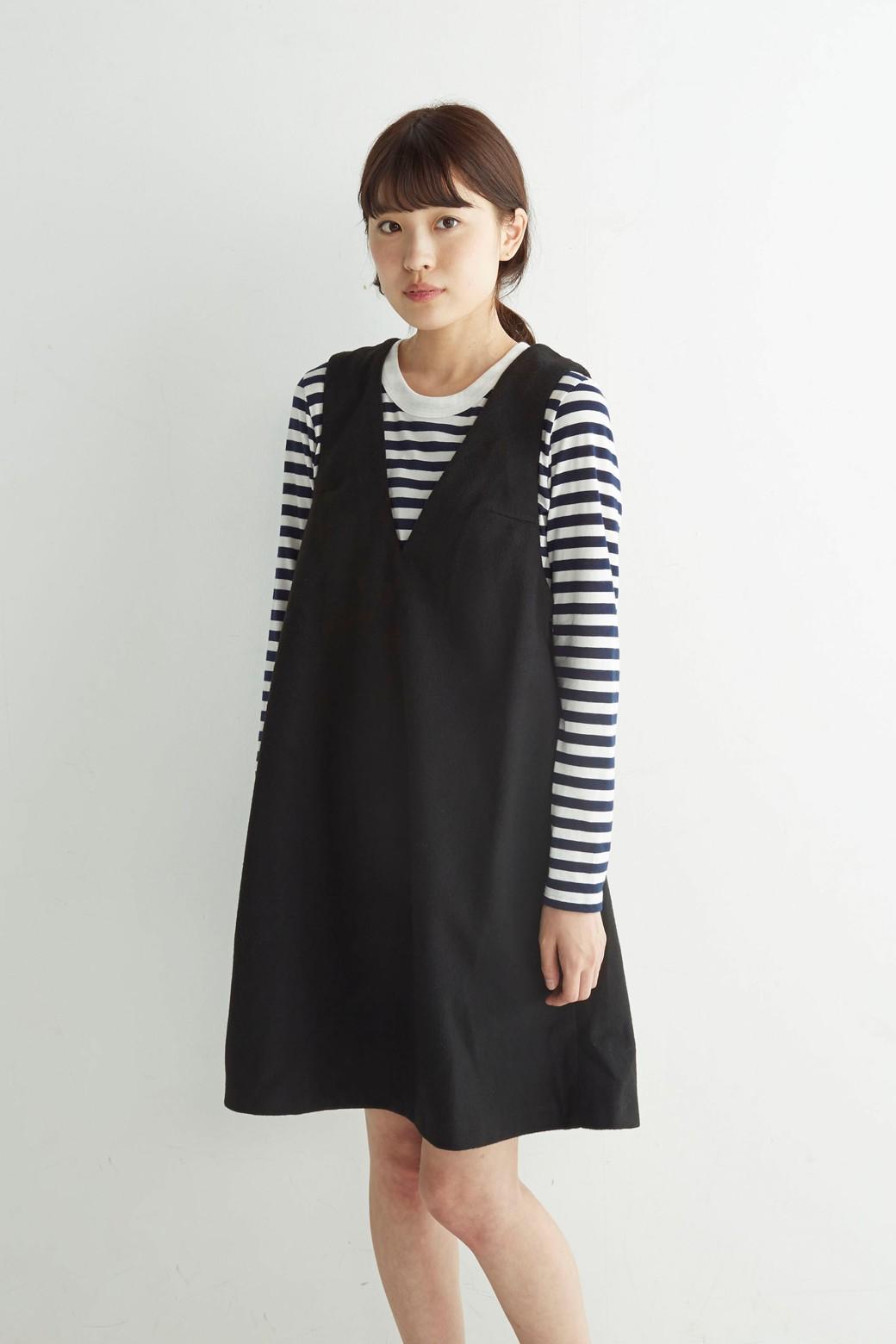 エムトロワ 大人レディーライクジャンパースカート <ブラック>の商品写真10