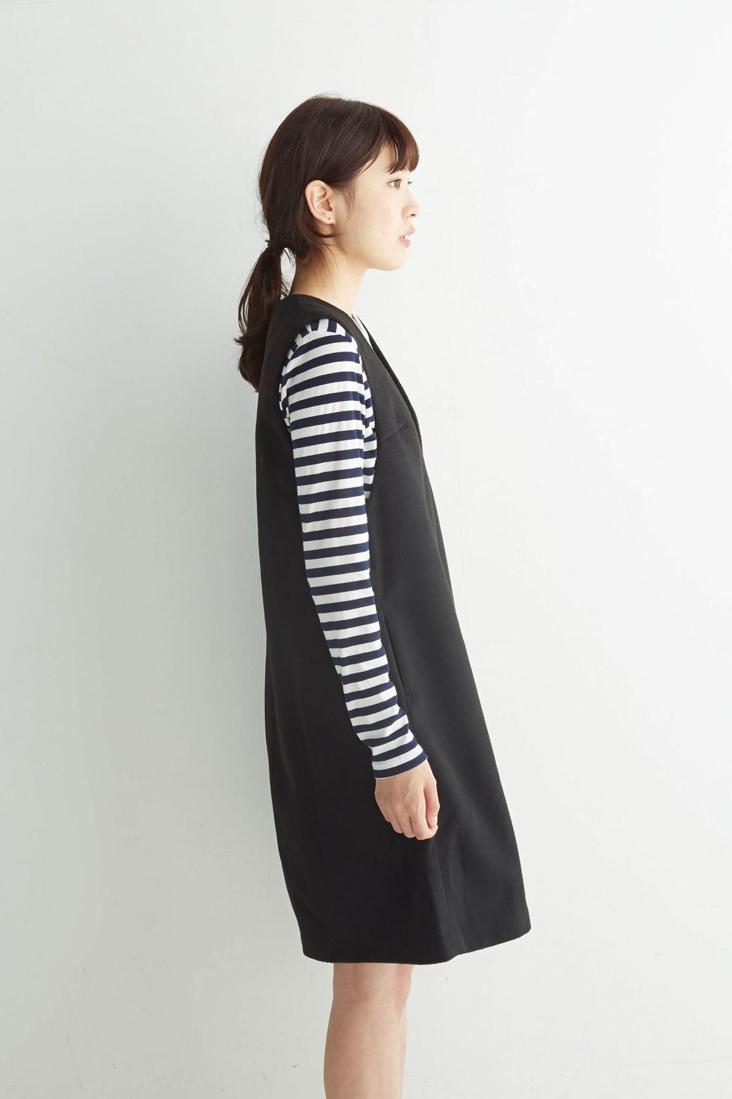 エムトロワ 大人レディーライクジャンパースカート <ブラック>の商品写真11