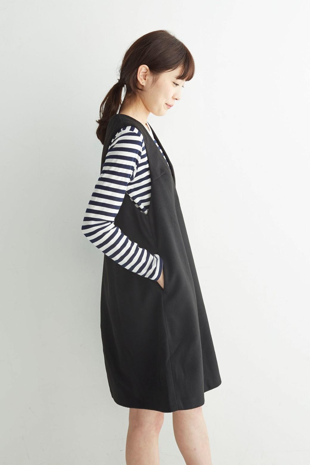 エムトロワ 大人レディーライクジャンパースカート <ブラック>の商品写真12