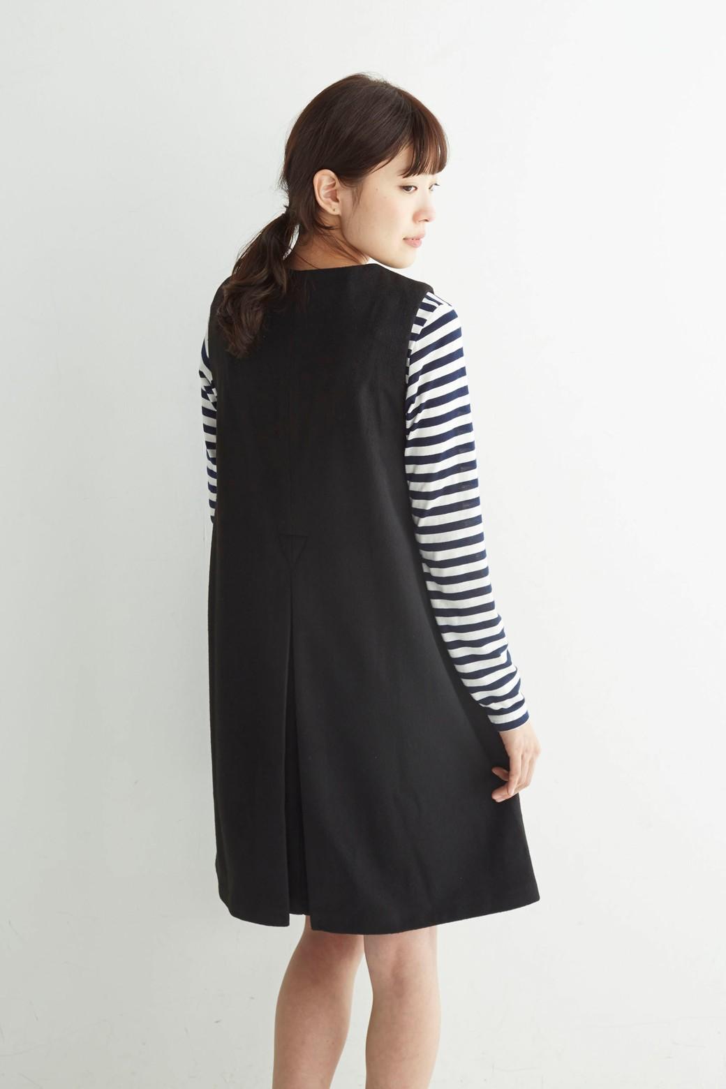 エムトロワ 大人レディーライクジャンパースカート <ブラック>の商品写真13