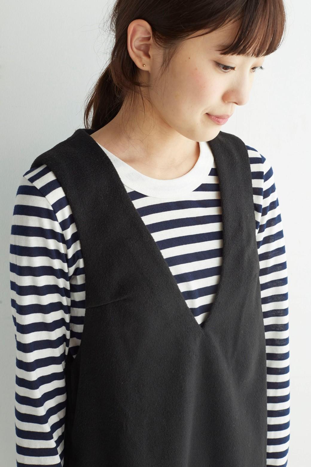 エムトロワ 大人レディーライクジャンパースカート <ブラック>の商品写真14