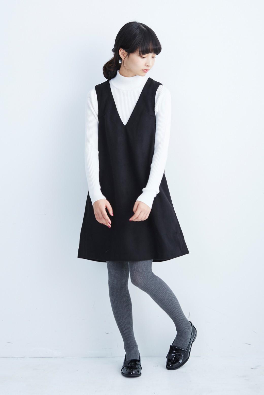 エムトロワ 大人レディーライクジャンパースカート <ブラック>の商品写真6