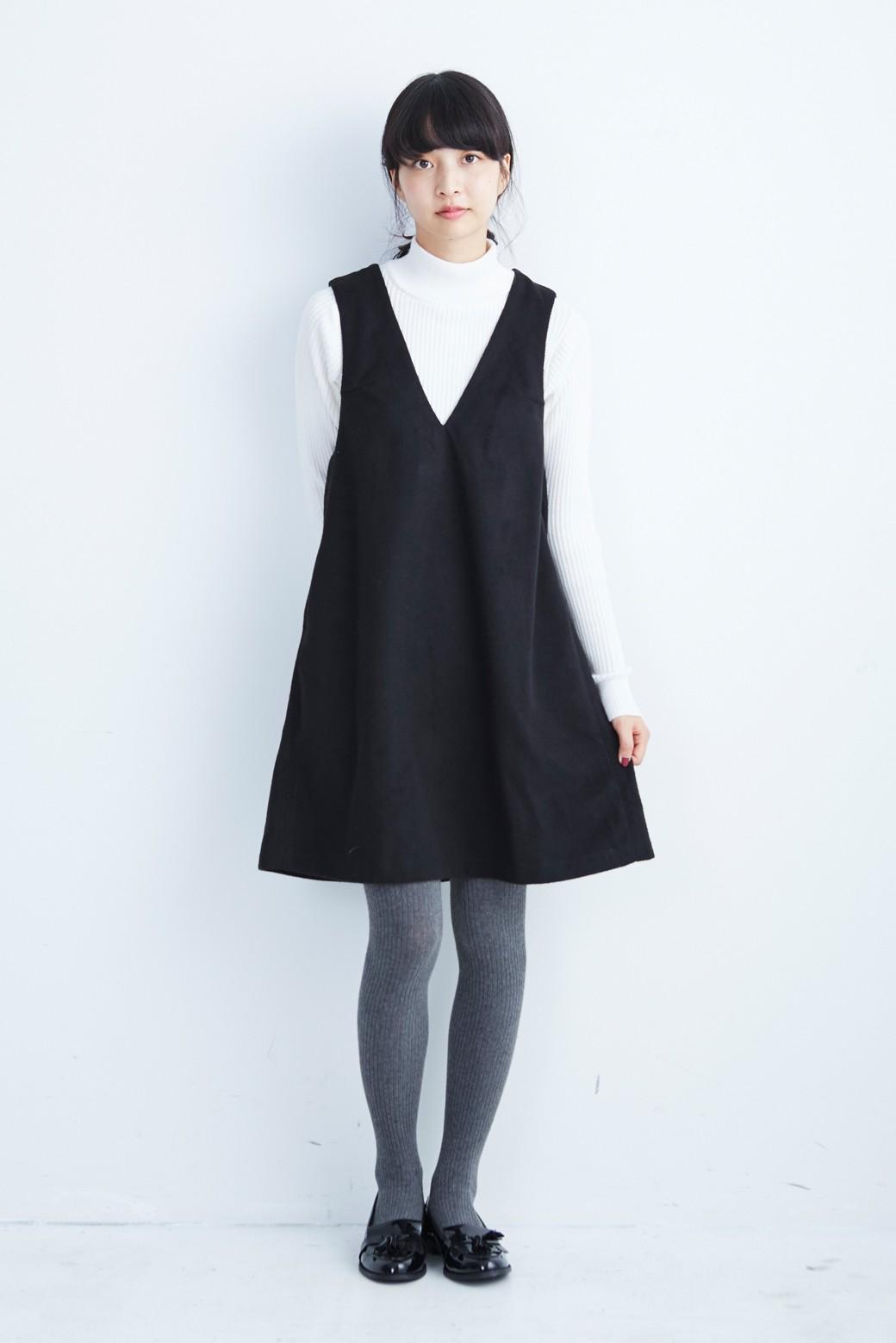 エムトロワ 大人レディーライクジャンパースカート <ブラック>の商品写真7
