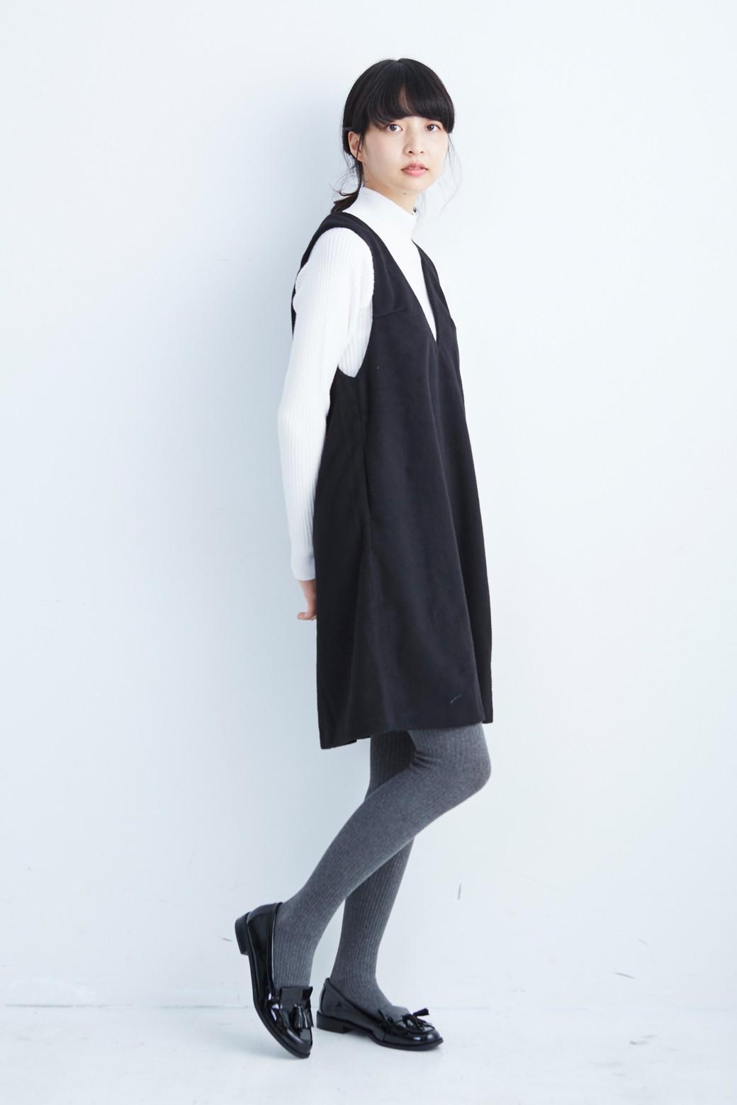 エムトロワ 大人レディーライクジャンパースカート <ブラック>の商品写真8