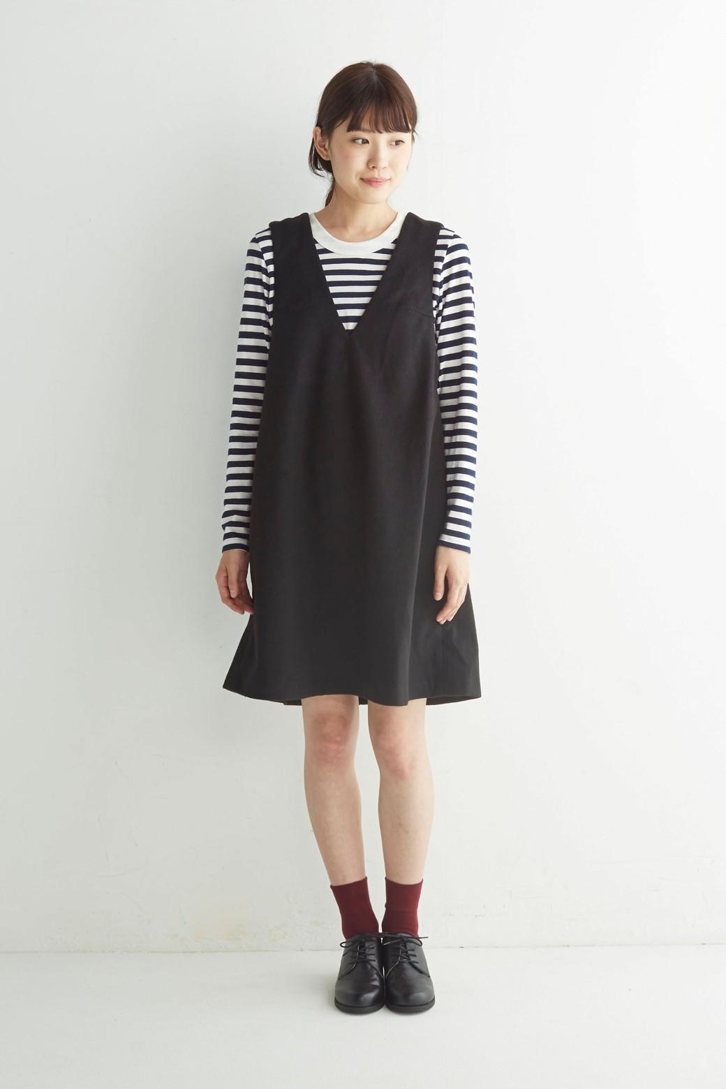 エムトロワ 大人レディーライクジャンパースカート <ブラック>の商品写真9