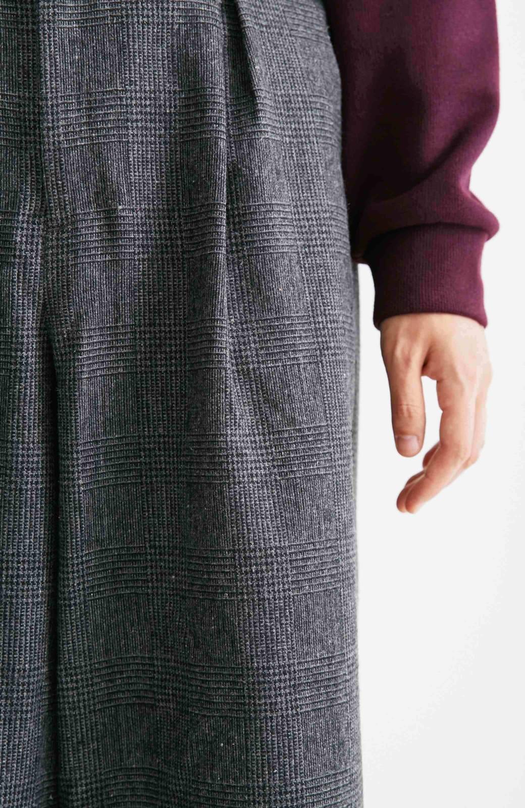 nusy グレンチェックのワイドパンツ <グレー>の商品写真11