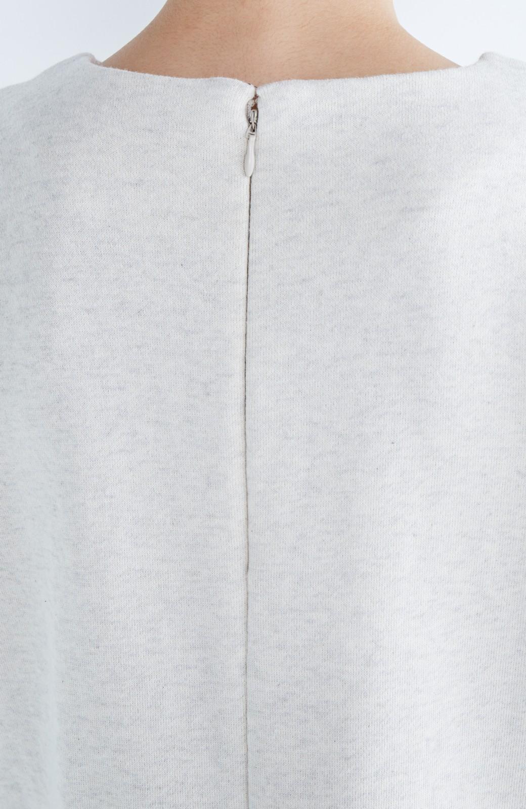 nusy ぱっと着るだけで簡単なのにスウェットより油断してなく見える、シャツ袖スウェット <オートミール>の商品写真13