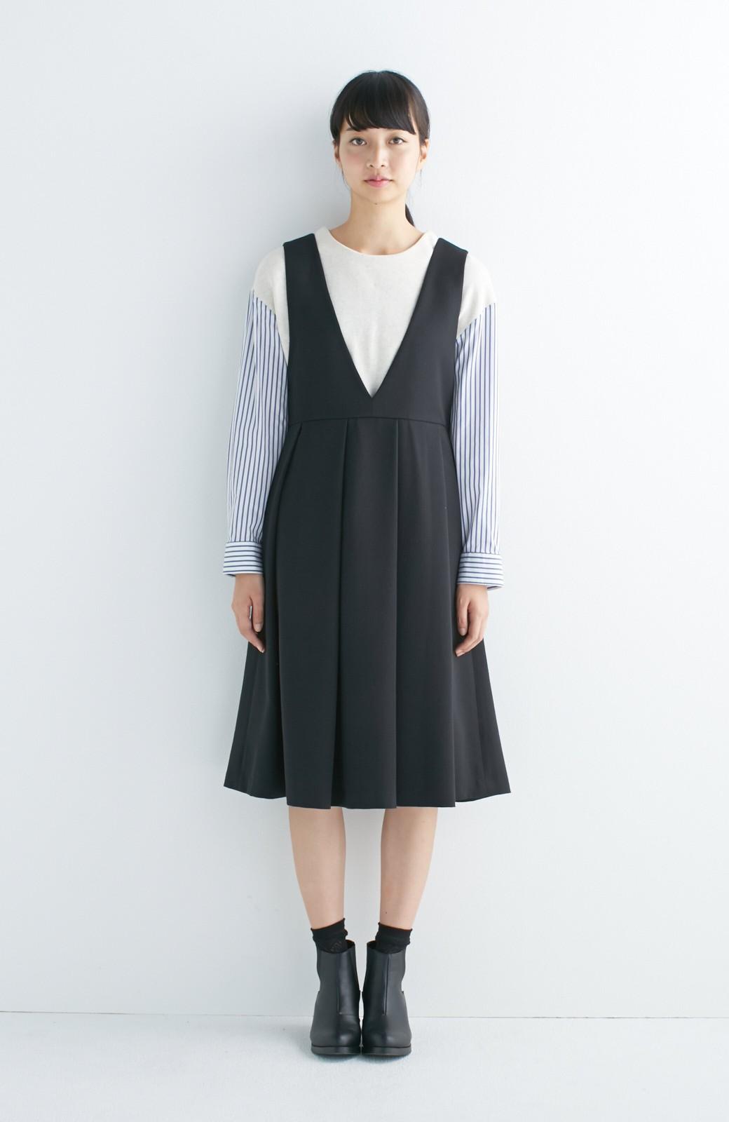 nusy ぱっと着るだけで簡単なのにスウェットより油断してなく見える、シャツ袖スウェット <オートミール>の商品写真6