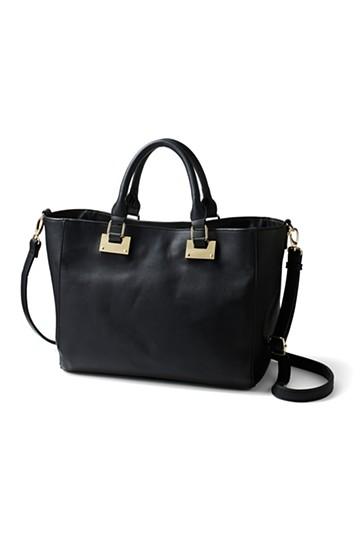 エムトロワ 毎日づかいに便利なA4もお弁当も入るバッグ <ブラック>の商品写真