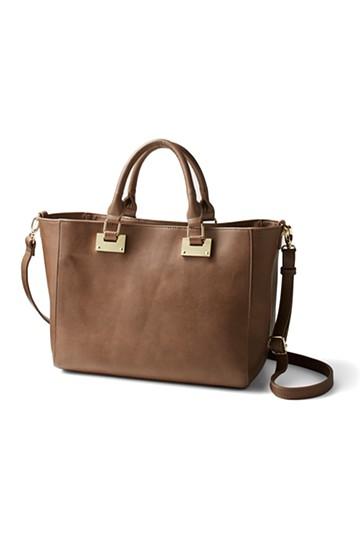 エムトロワ 毎日づかいに便利なA4もお弁当も入るバッグ <グレイッシュベージュ>の商品写真