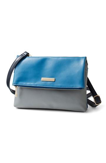 エムトロワ こう見えて便利な配色クラッチ&ショルダーバッグ <ブルー系その他>の商品写真