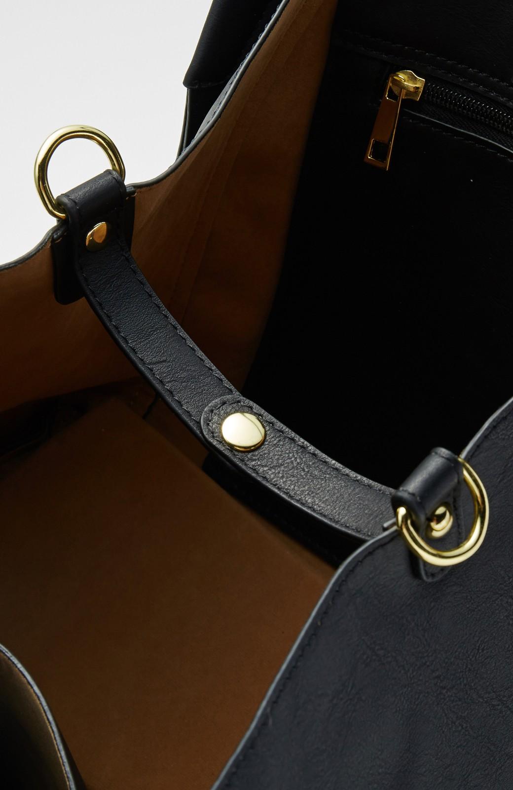 エムトロワ 迷わず毎日使える大人トートバッグ <ブラック>の商品写真3