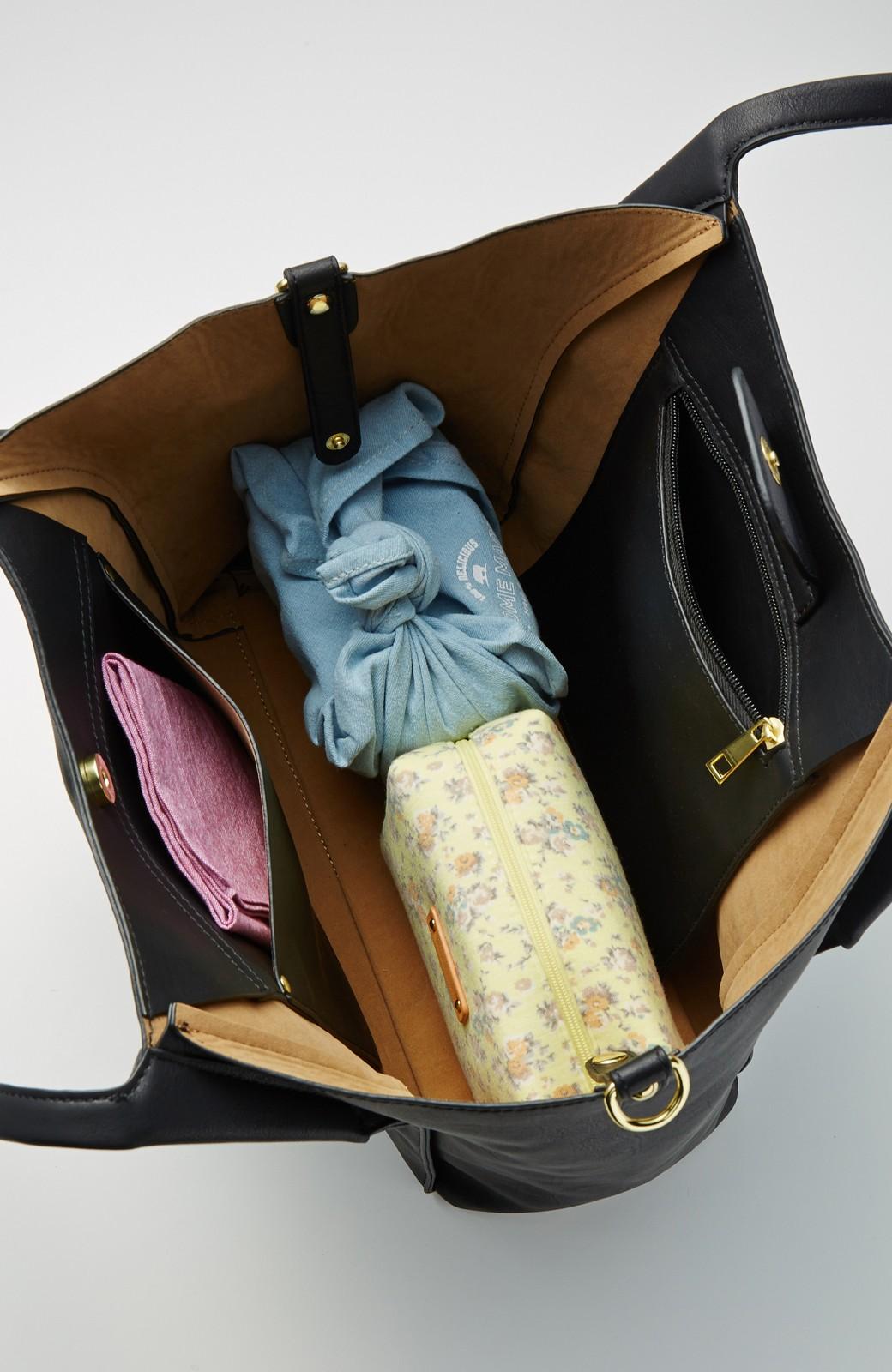 エムトロワ 迷わず毎日使える大人トートバッグ <ブラック>の商品写真4