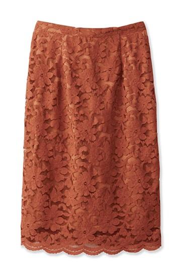 エムトロワ フェミニンレースタイトスカート  <ライトブラウン>の商品写真