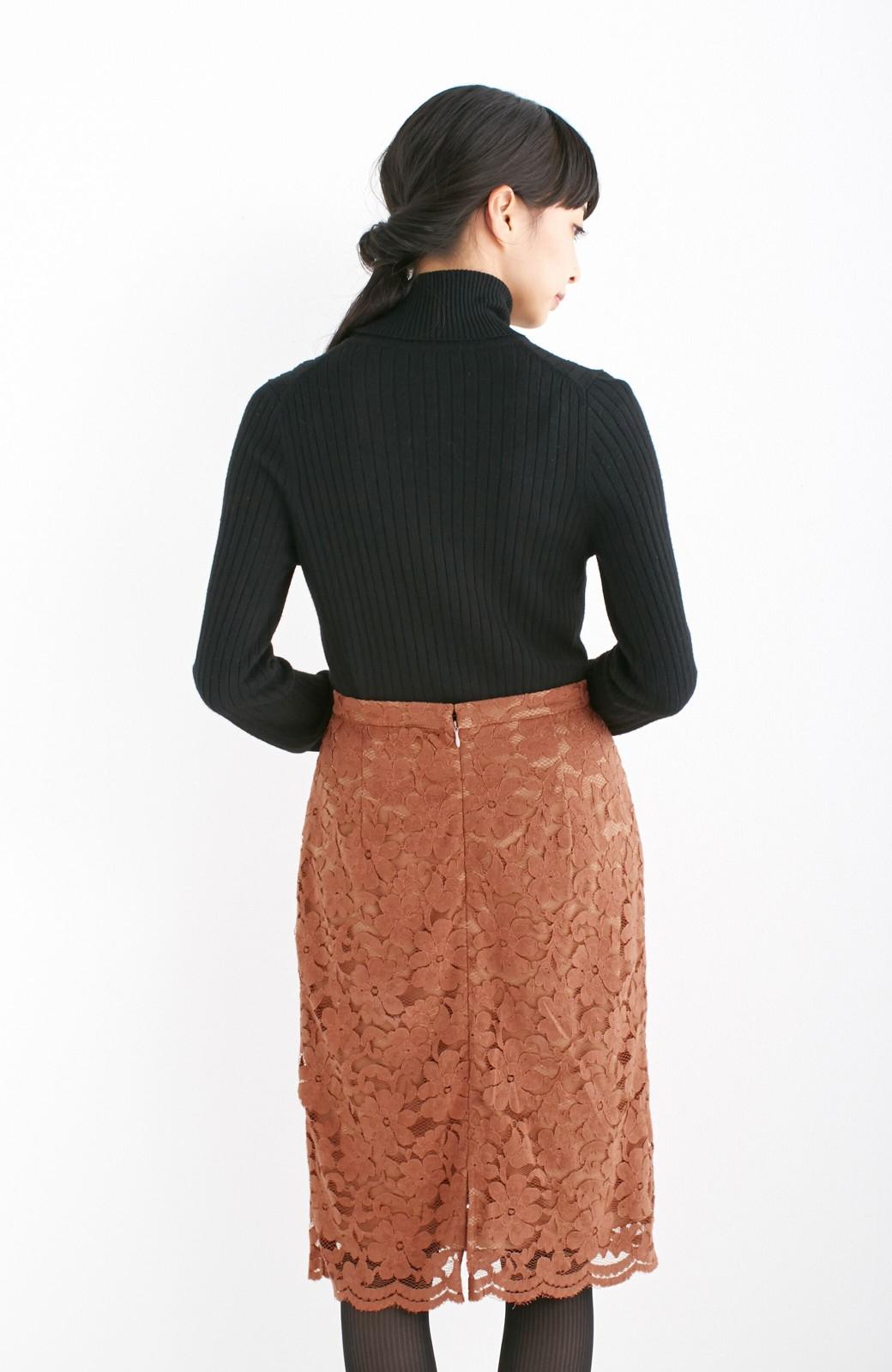 エムトロワ フェミニンレースタイトスカート  <ライトブラウン>の商品写真9