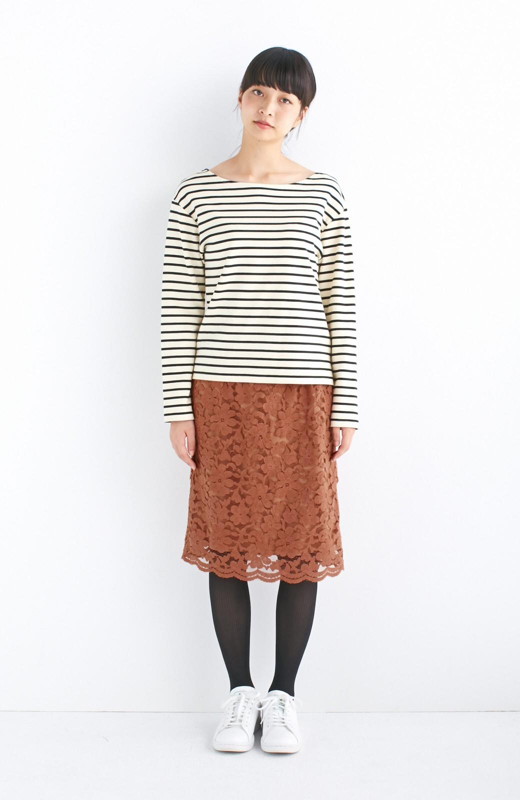 エムトロワ フェミニンレースタイトスカート  <ライトブラウン>の商品写真5