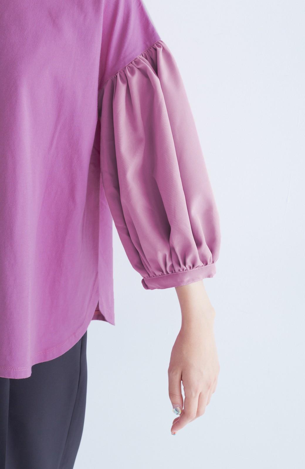 haco! ぽんわりいちじく袖のカットソートップス <スモークピンク>の商品写真7