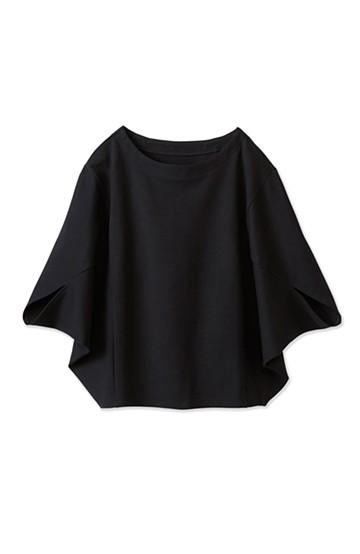 エムトロワ  ポンチョみたいなポンチのきれいめトップス <ブラック>の商品写真