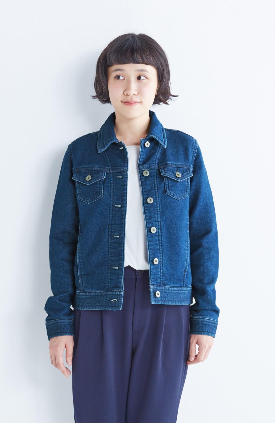 nusy 大人っぽくて動きやすいニットデニムジャケット <インディゴブルー>の商品写真14