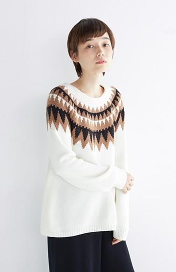 nusy 【mer1月号掲載】大人女子のノルディックニット <オフホワイト>の商品写真